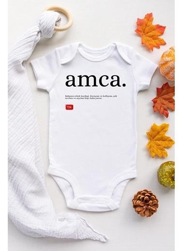 Happy Onesie Co Amca TDK Çıtçıtlı Bebek Body Beyaz